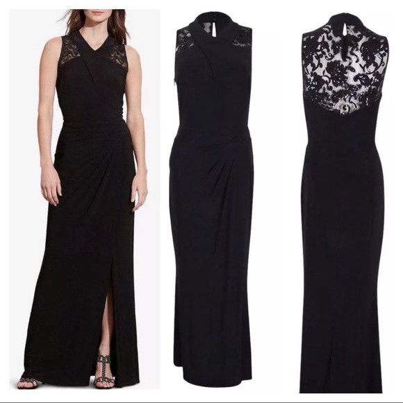 Lauren Ralph Lauren Dresses | New Ralph Lauren Lace Yoke Evening ...